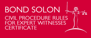 Bond Solon Expert Witness Certificate
